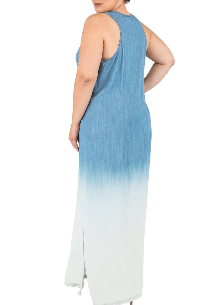 Standard & Practices Kori Maxi Denim Dress plus size Coverstory