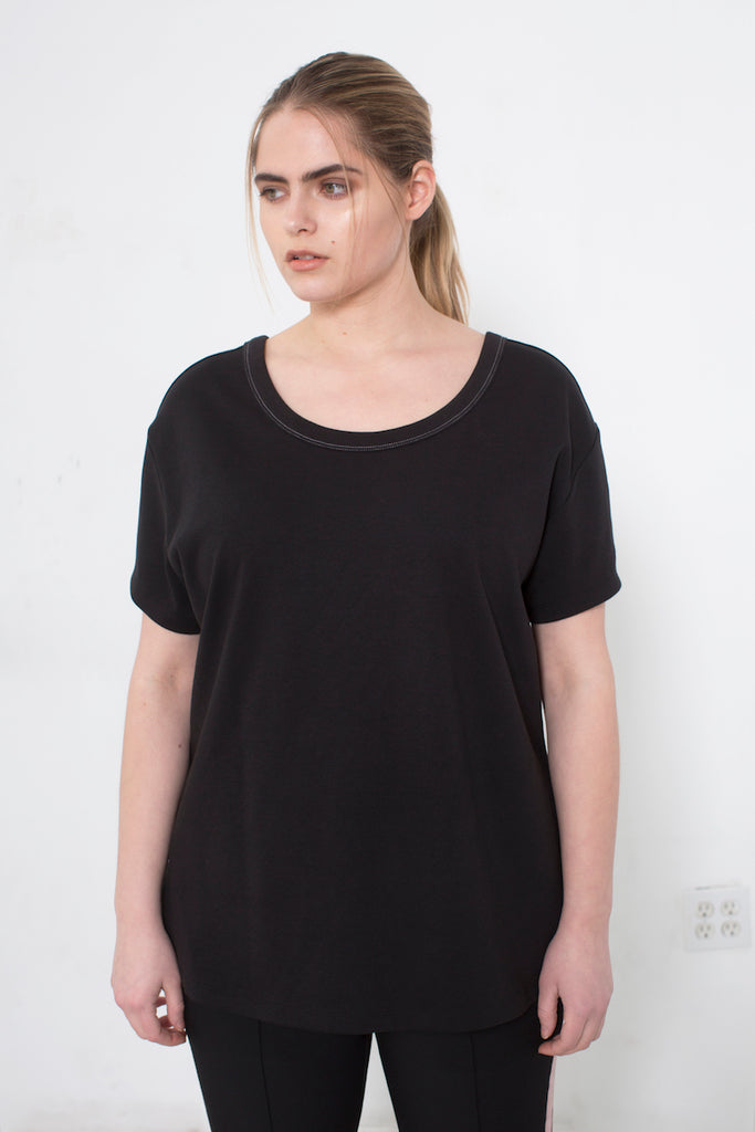 See Rose Go My Favorite Tee Black plus size CoverstoryNYC