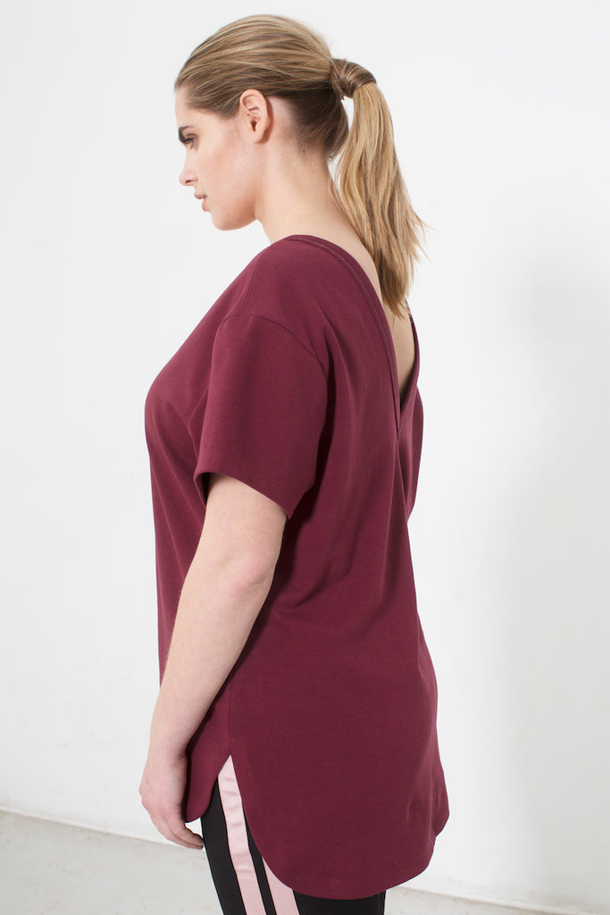 See Rose Go My Favorite Tee Burgundy plus size