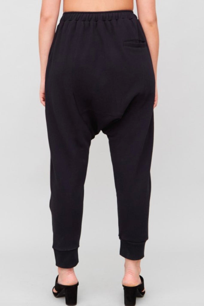 OAk cuffed gusset sweatpants plus size black
