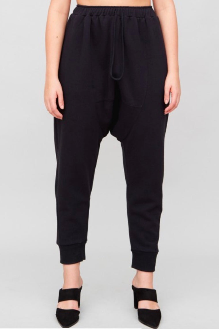 OAK Cuffed Gusset Sweatpants - Black
