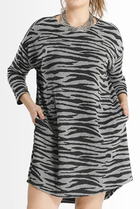 Shegul Khrstyana Knit Dress -Zebra
