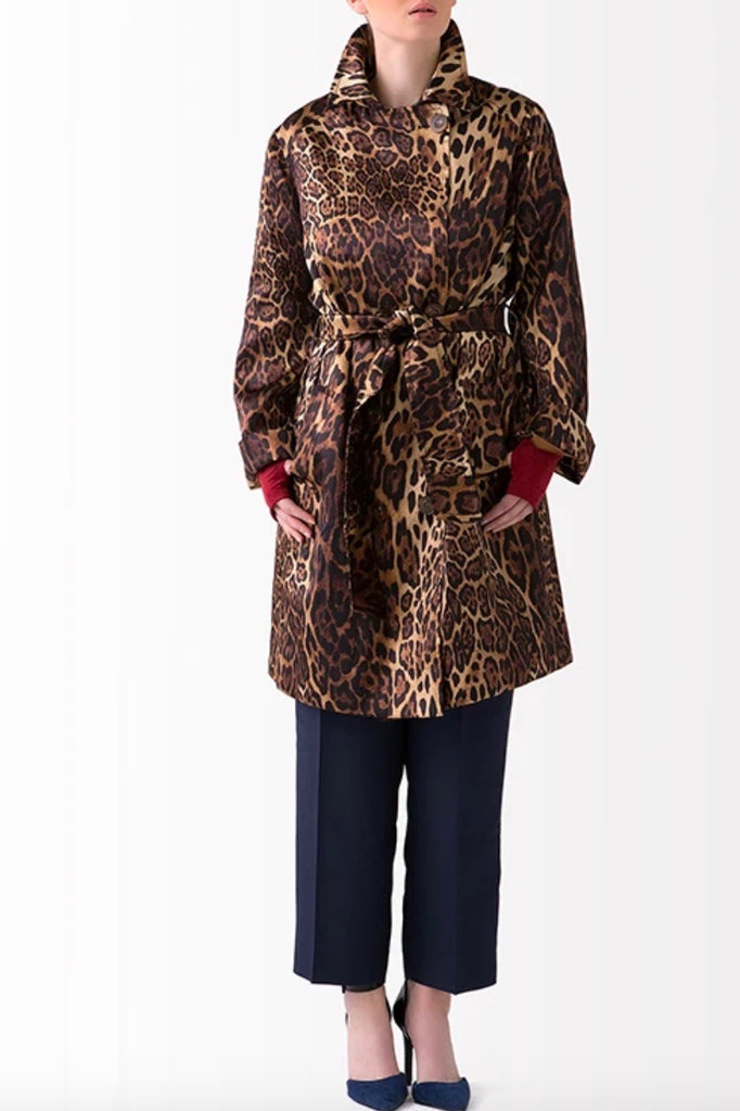 Shegul Leopard Print Trench