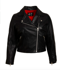 ALL 67 - Cropped leather Biker Jacket