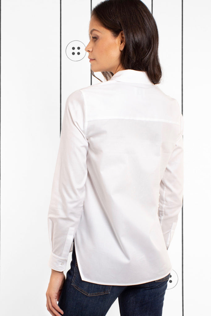 Thirteen-Seven The Trapezoid Shirt - Crisp White