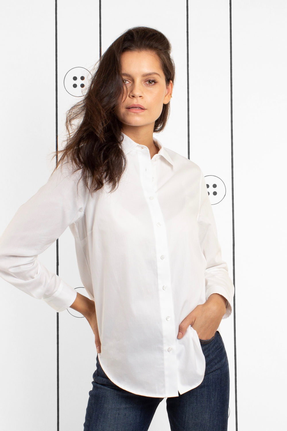 Thirteen-Seven Risky Business Shirt - Cloud White