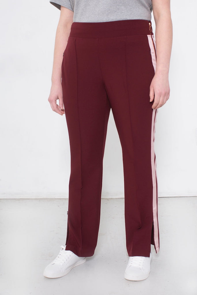 See Rose Go Track Pants Plus size Bordeaux CoverstoryNYC