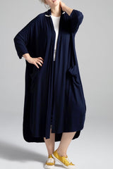 Shegul Alena Duster Navy Plus size