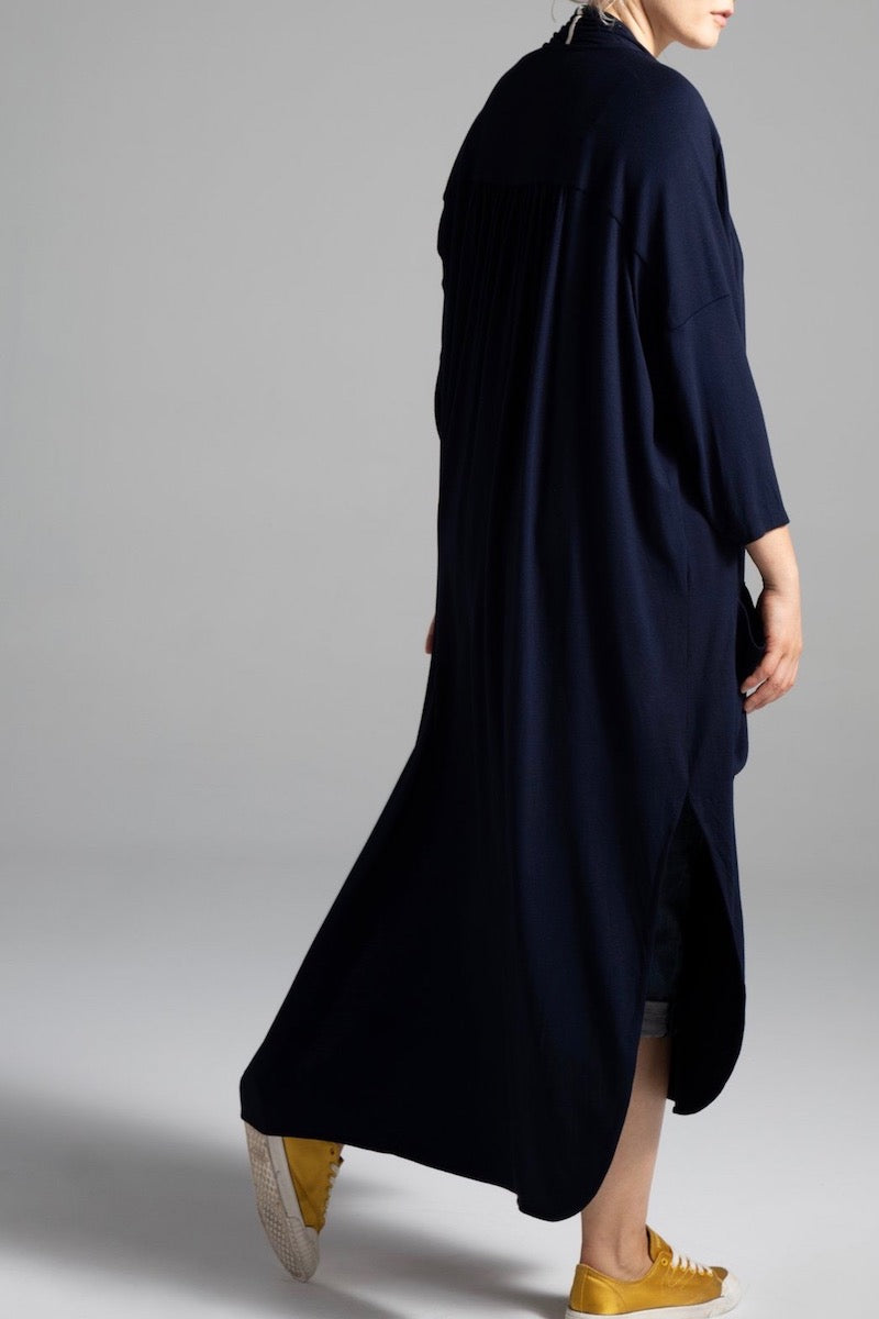 Shegul Alena Duster Navy Plus size Coverstory