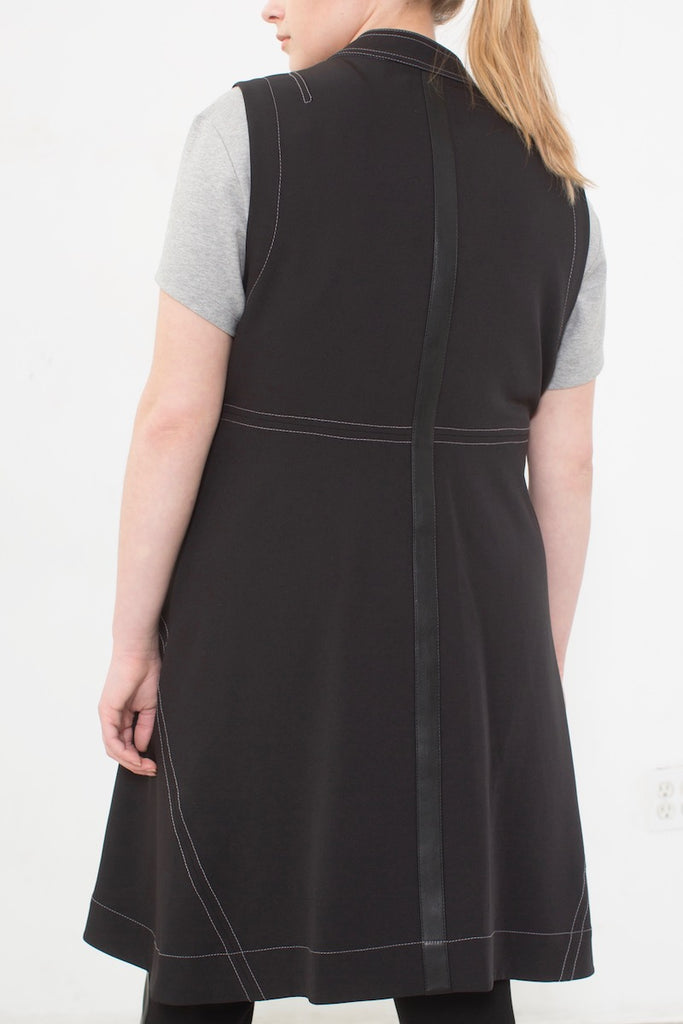 See Rose Go Layering Vest - Black