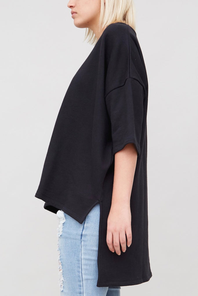 oak WIDE TEE PLUS size black coverstorynyc