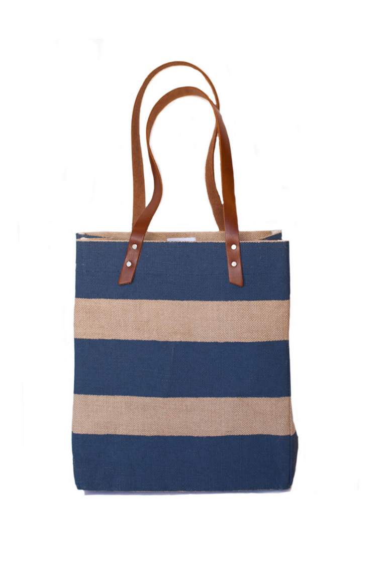 Apolis Nautical Stripe Tote - Navy