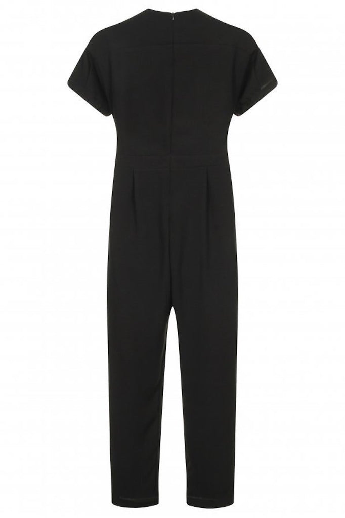contemporary plus size black jumpsuit elvi