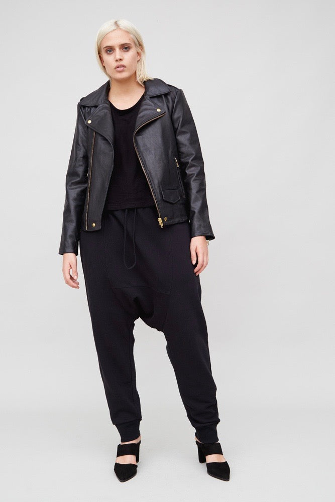 OAK NY Rebel Biker Jacket - Black