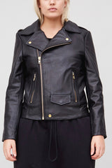 OAk NY rebel biker jacket black leather plus size CoverstoryNYC