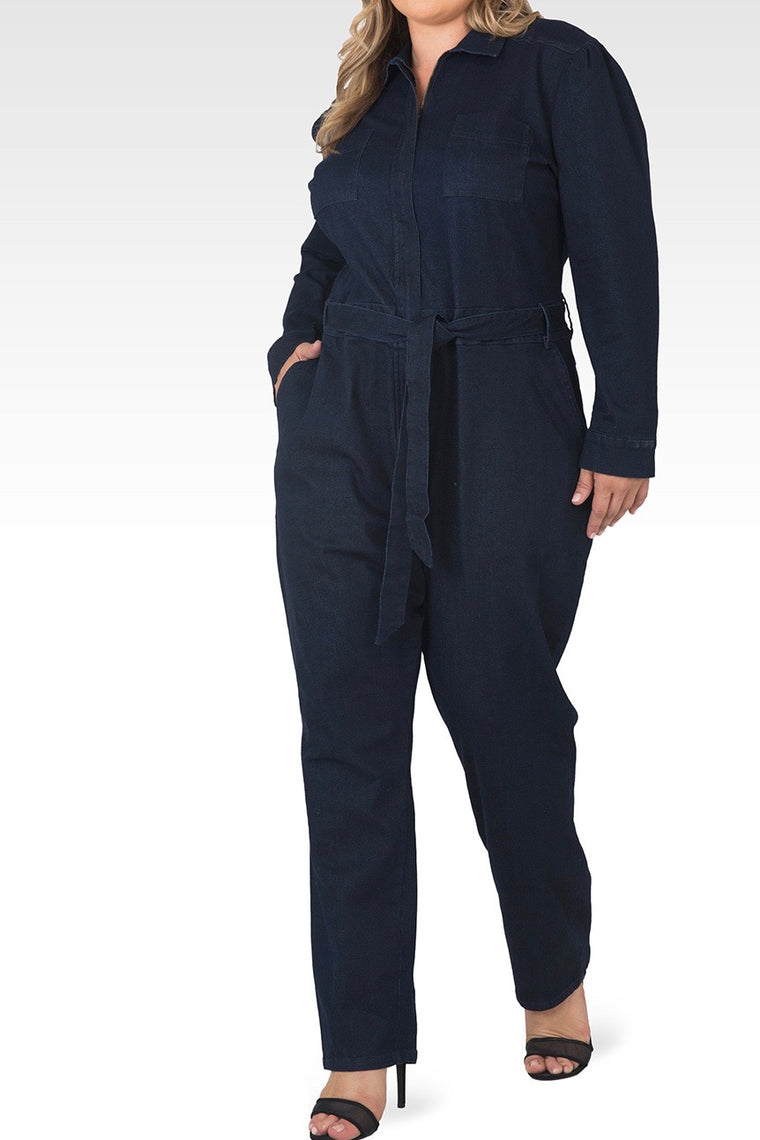 Standards & Practices - Janeen Denim Jumpsuit