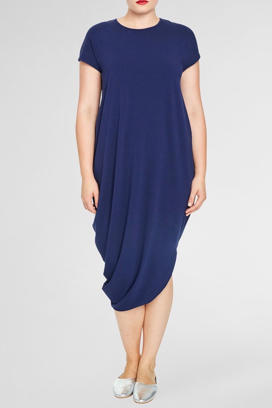 universal standard geneva dress evening blue plus size CoverstoryNYC