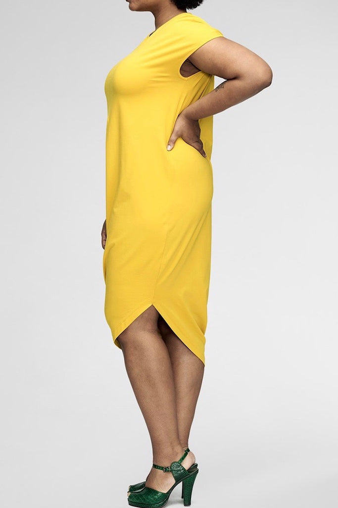 universal standard geneva dress plus size yellow Coverstory
