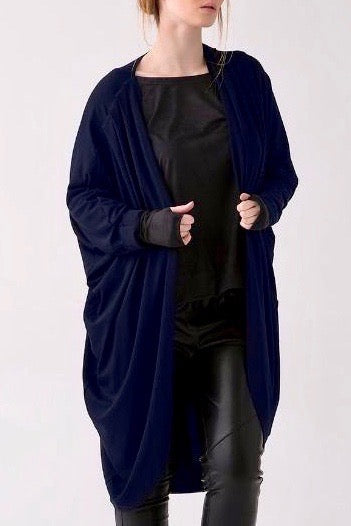 shegul mia cocoon cardigan navy plus size Coverstory