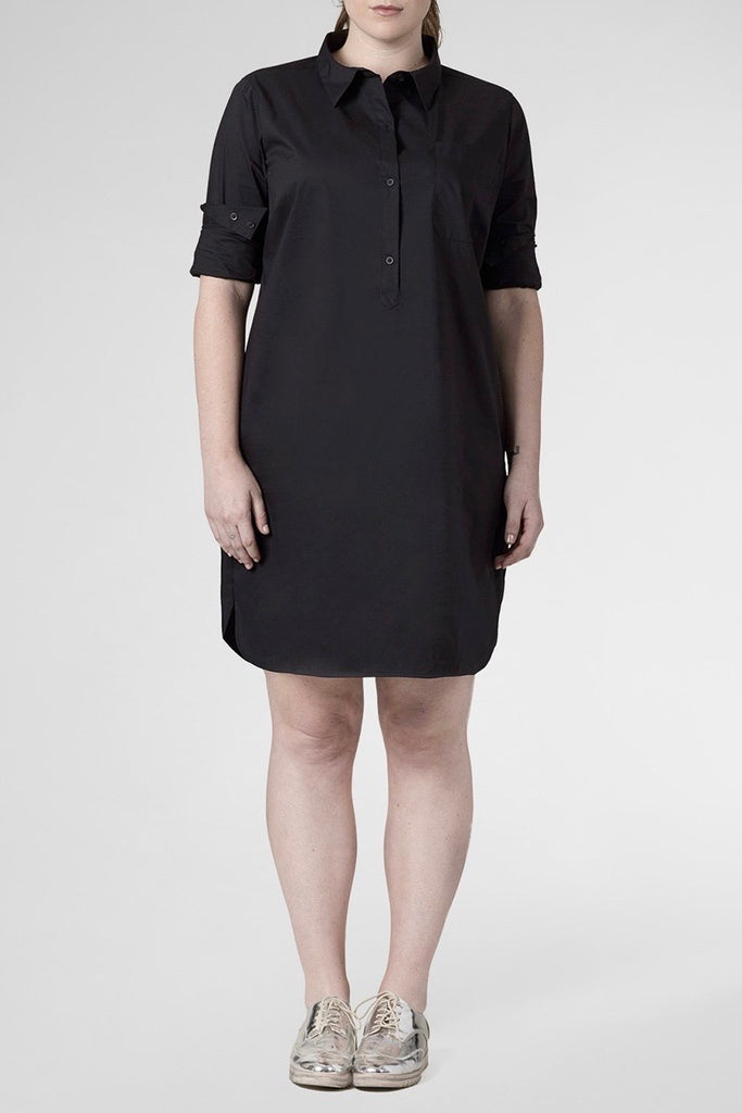 universal standard rubicon dress black plus size