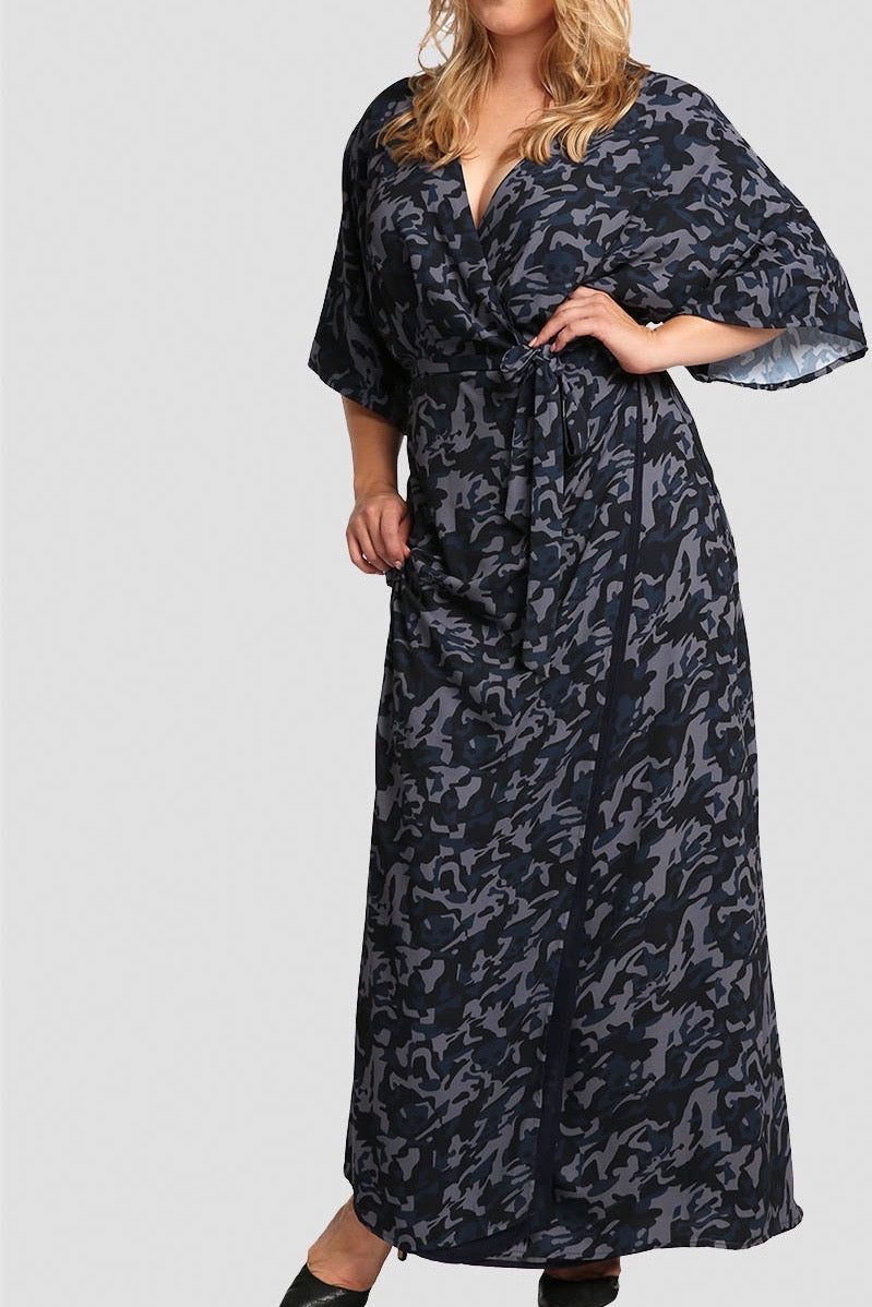 7652eb85239 Standards & Practices Olivia Maxi Dress - Camo – Coverstorynyc