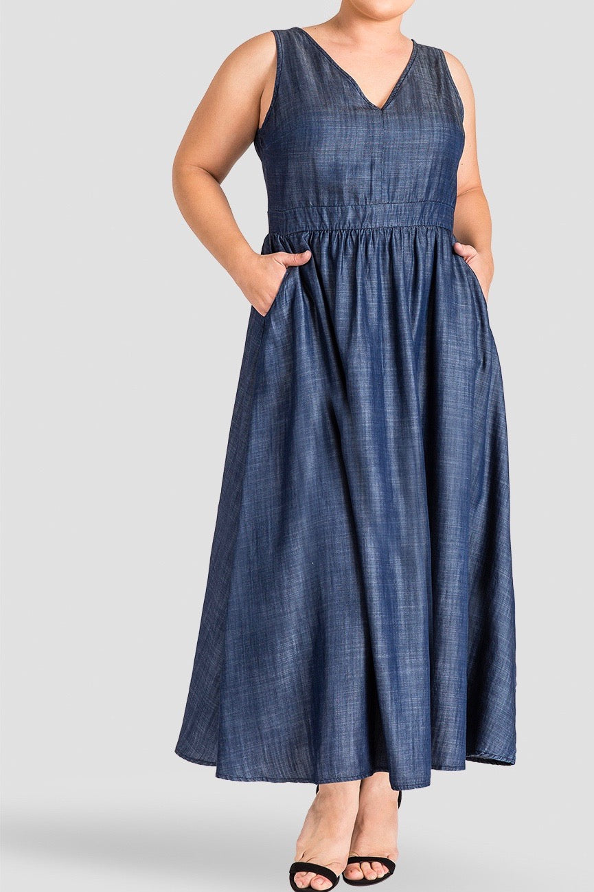 Standards & Practices - Nimah Denim Dress