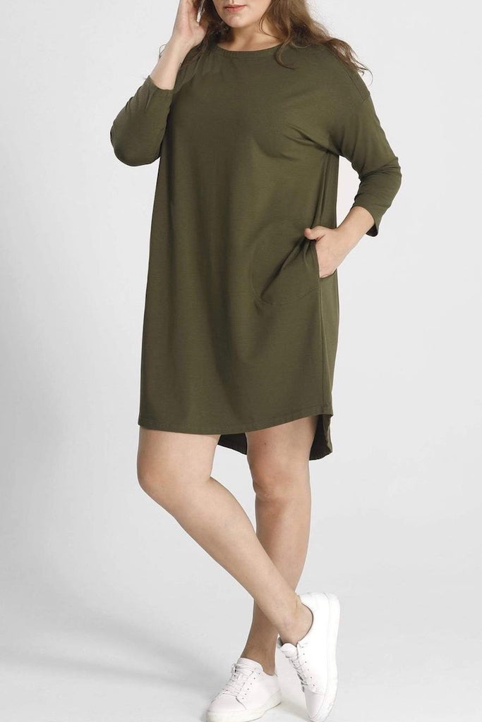 Shegul Khrstyana Knit Dress - Hunter Green