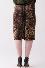 Shegul leopard skirt plus size