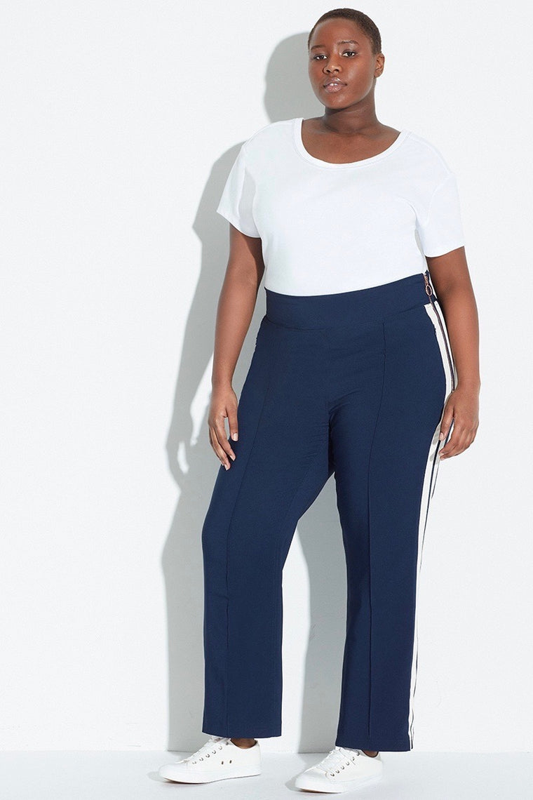See Rose Go Track Pants - Classic Blue