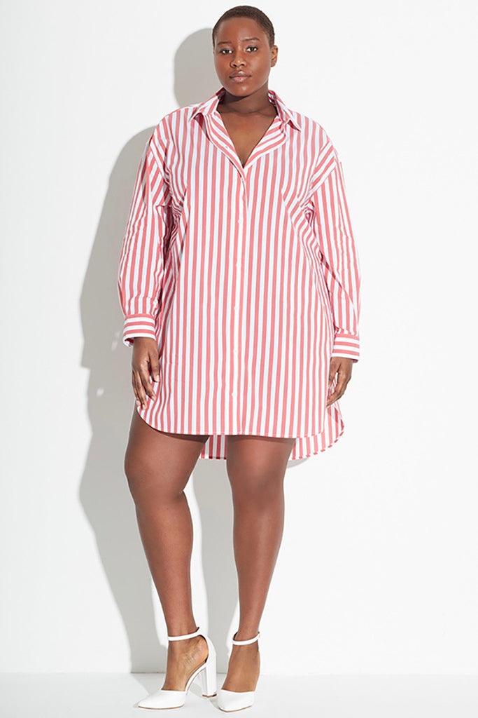 See Rose Go Essential Tunic Shirt - Poppy Stripe