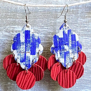 Let Freedom earRING Cork Leather Chandeliers