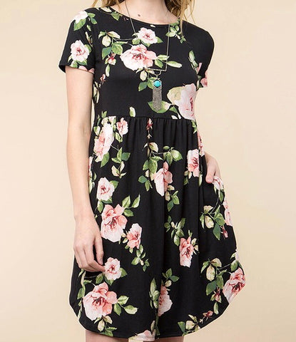 Boutique Floral Fit & Flare with Pockets
