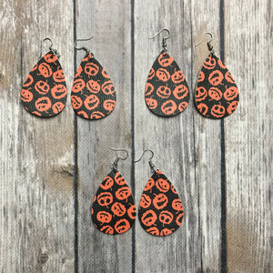 Halloween Teardrop Earrings