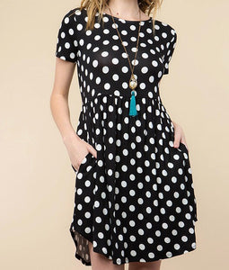 Polka Dot Fit & Flate with Pockets