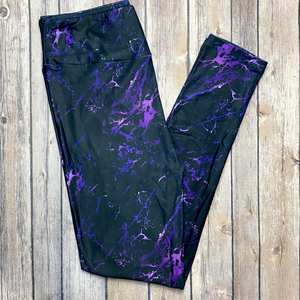 Black & Purple Marble