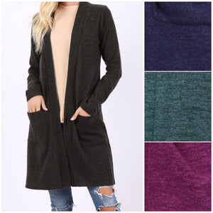 Brushed Melange Sweater Cardigan