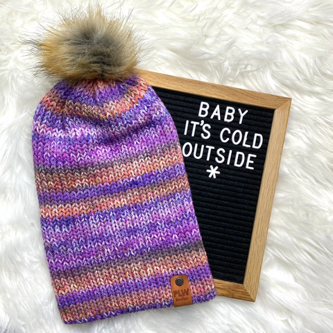 Shocking Violet Slouchy Beanie