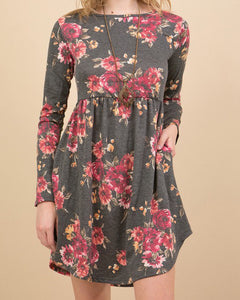 Fall Floral Fit & Flare Dress