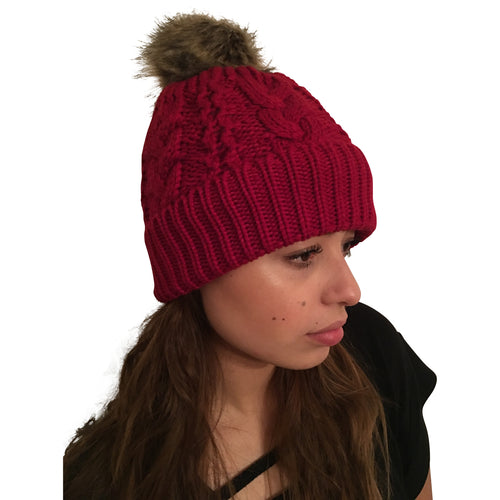 Tuque rouge - pompom