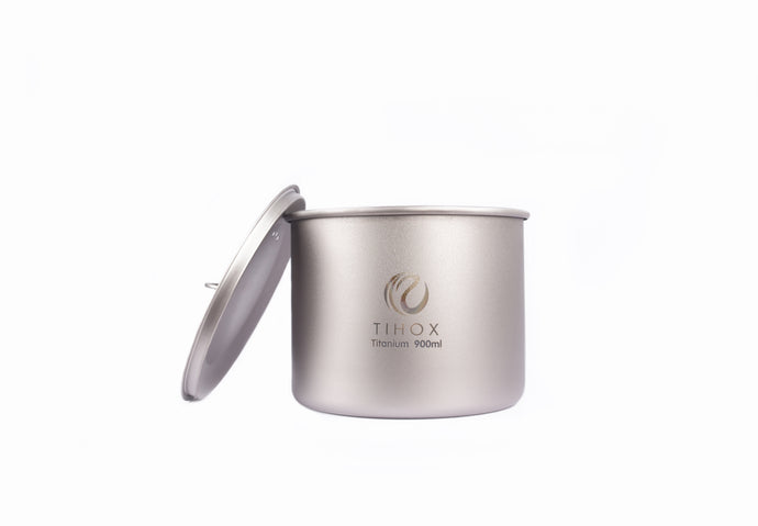 TIHOX Titanium 900ml Pot With Lid