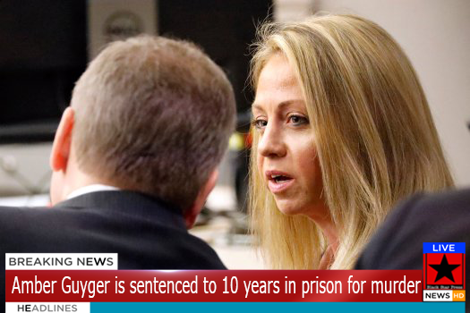 BREAKING NEWS: White cop Amber Guyger is sentenced to 10 years in prison for murdering her black neighbor in his apartment