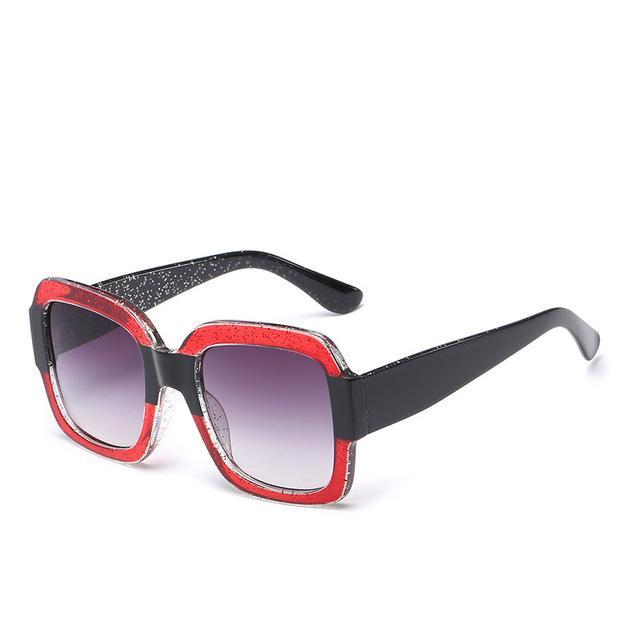 Oversize Unique Clear Sun glasses