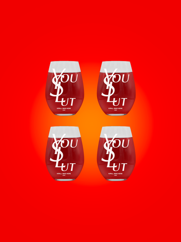 YOU SLUT WINE GLASS 4-PACK