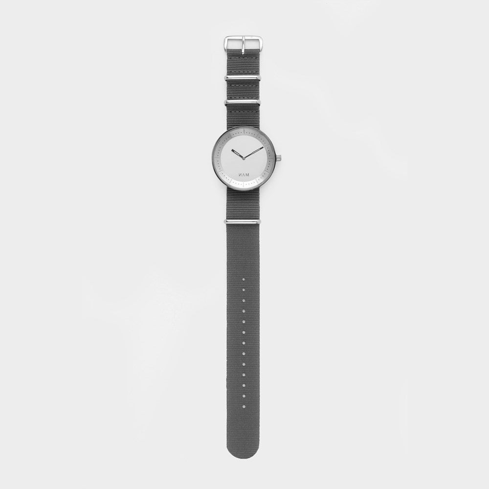 Toba White Nato Grey