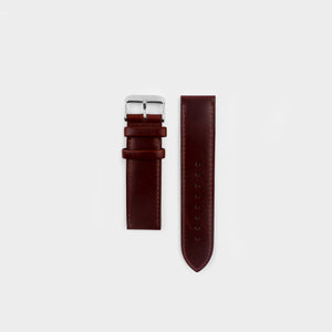 Burgundy Leather Strap 22mm