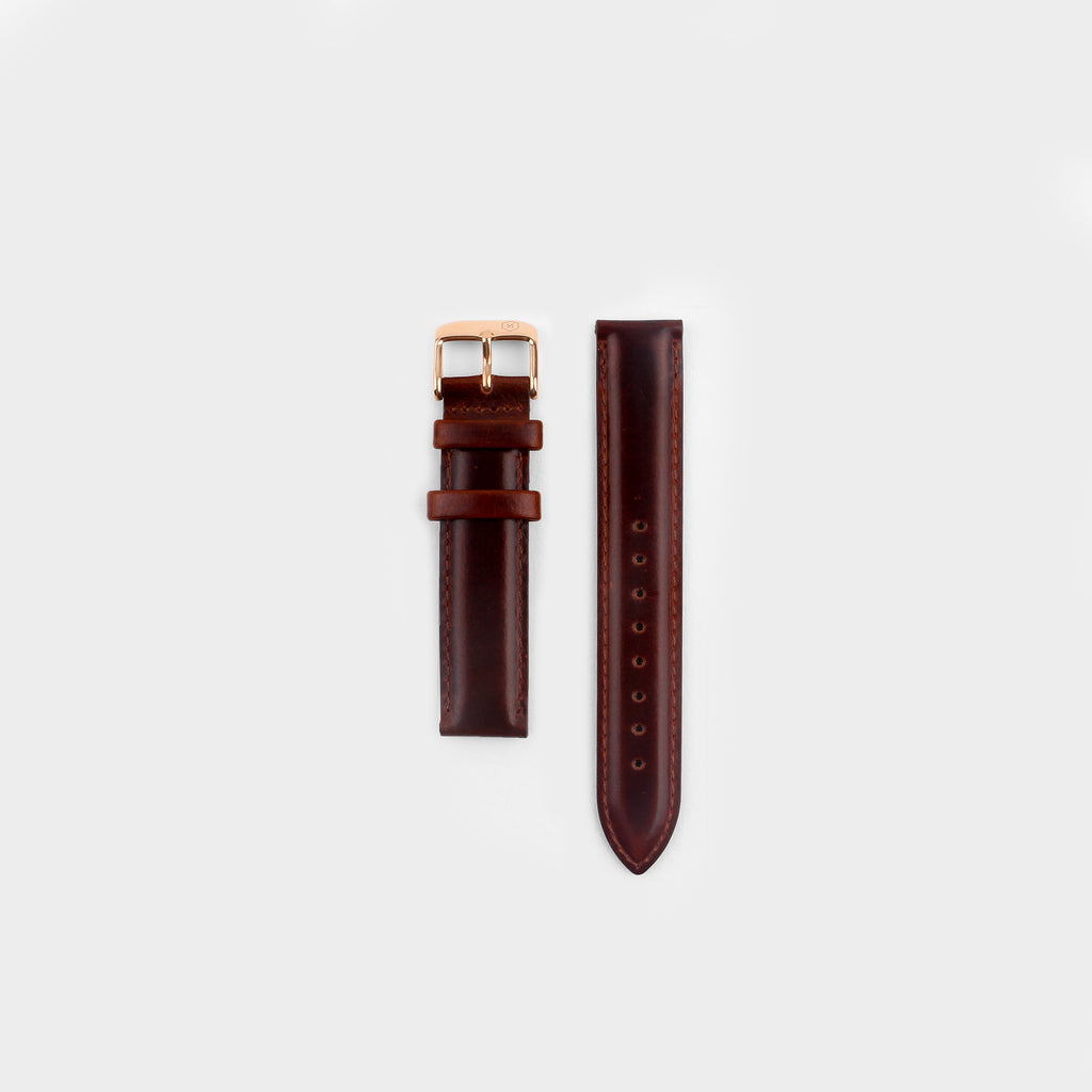 Brown Leather Strap 18mm