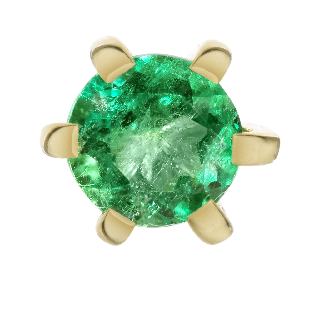 Cannes Emerald Stud Earrings | 18k Yellow Gold | 1 Stone