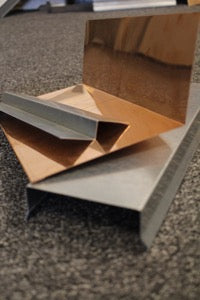 galvanized or copper flashing by Mio Metals