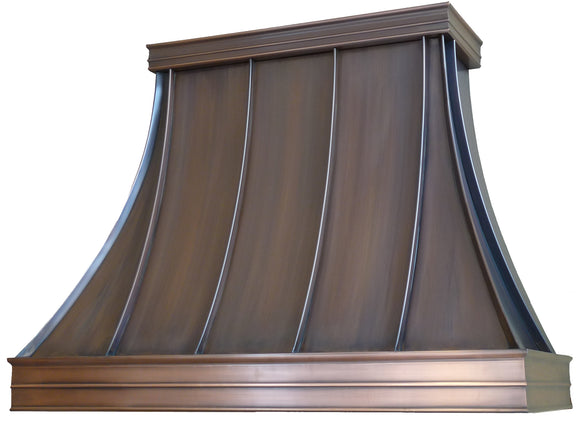 Bordeaux - Copper hood - 10 foot ceiling