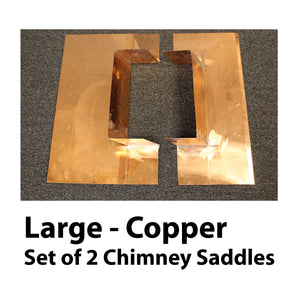 Chimney Saddle Flashing - Large, Copper